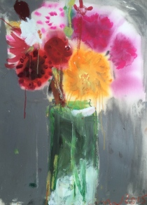 Catherine Ducker, 'Dahlias in the Rain'