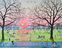 Anne Haworth, 'Spring Evening in the Park'