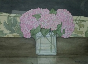 Christine Bruce, Hydrangeas in Reading Room