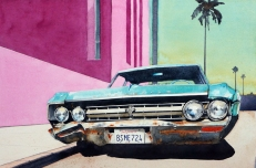 Paul Gadenne, 'Oldsmobile and Pink Wall'
