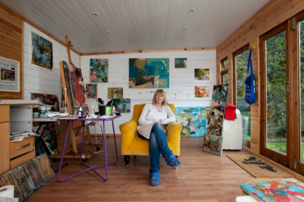 Julie Cooper in her St Albans studio. Courtesy The Herts Advertiser