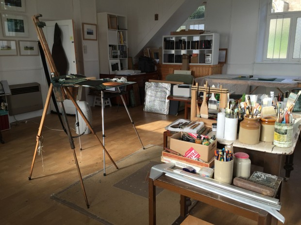 A glimpse into David's studio