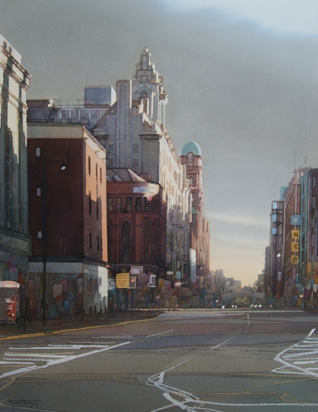 'Evening Light, Oxford Street, Manchester', Janet Kenyon