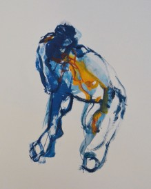 Jacqueline Abel, 'Crouching Woman', £450