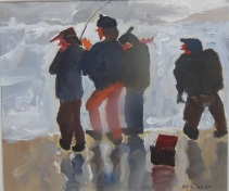 Sue Atkinson, 'Cool Fishing, Runswick Bay', £420