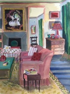 Lottie Cole, 'Interior with Doris Zinkeisen', £950