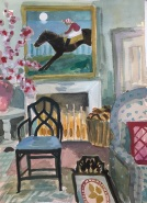Lottie Cole, 'Interior with Moonlight Jockey', £950