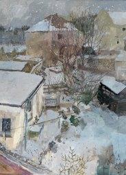 Catharine Davison, 'Falling Snow, Oxgangs Gardens', £1,600