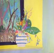 Suzy Fasht, 'Wild flowers by a window', £750