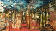 Laura Footes, 'Night Bus on Hackney Road', £4,000