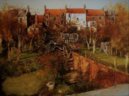 George Gilbert RSW, 'Crail Garden (Autumn)', £3,500