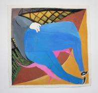 Alexander Gilmour, 'Walking my big pink dog', £600