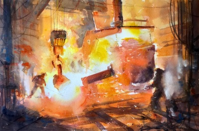 Henry Jones, 'Hot Work', £580