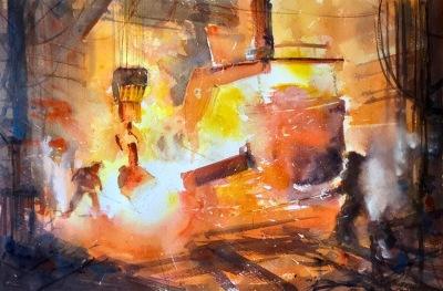 Henry Jones, 'Hot Work', £580