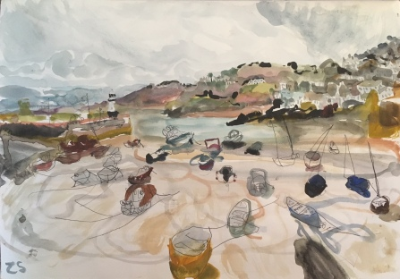 Zoe Savory, 'Tide out, storm coming in', £950