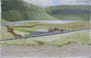 Michael Williams, 'High lake with wall', £3,650